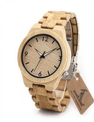 wooden watches made from bamboo
